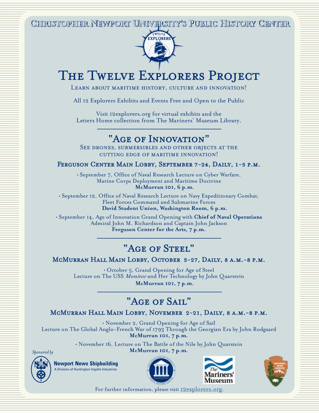 12 Explorers Project Flyer