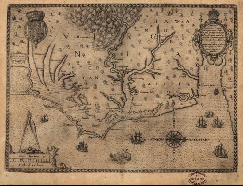 map of va 1590